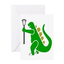 Lacrosse Laxasaurus 1 Greeting Card
