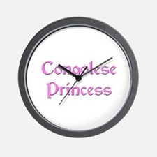 Congolese Princess Wall Clock