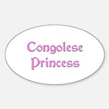 Congolese Princess Oval Decal