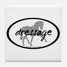 Dressage Sidepass w/ Text Tile Coaster