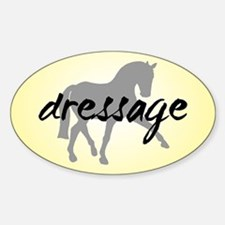 Dressage Sidepass w/ Text Oval Decal