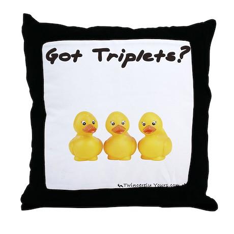 Got Triplets - Duckies Throw Pillow