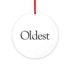 Oldest (first born) Ornament (Round)