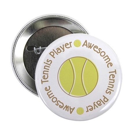 """Awesome Tennis Player 2.25"""" Button"""