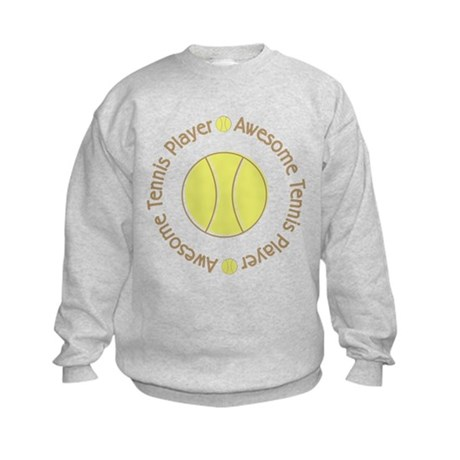 Awesome Tennis Player Kids Sweatshirt