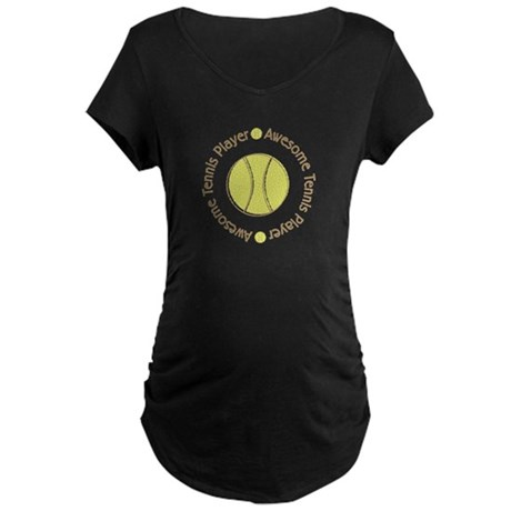 Awesome Tennis Player Maternity Dark T-Shirt