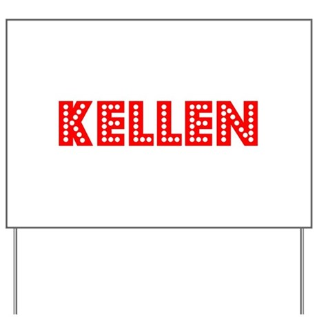 Retro Kellen (Red) Yard Sign