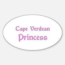 Cape Verdean Princess Oval Decal