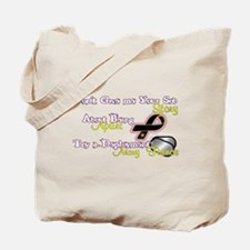 """Army Fiance """"Try a Deployment"""" Tote Bag"""