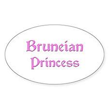 Bruneian Princess Oval Decal