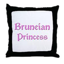 Bruneian Princess Throw Pillow