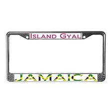 Island Gyal - License Plate Frame