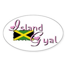 Island Gyal - Oval Decal