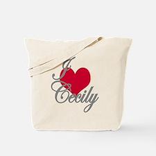 I love (heart) Cecily Tote Bag