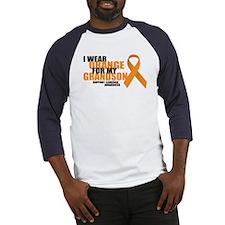 Leukemia: Orange For Grandson Baseball Jersey