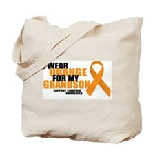 Leukemia: Orange For Grandson Tote Bag