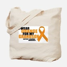 Leukemia: Orange For Grandson Tote Bag