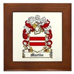 Martin Family Crest Framed Tile