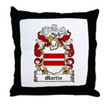 Martin Family Crest Throw Pillow