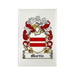 Martin Family Crest Rectangle Magnet (10 pack)