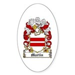 Martin Family Crest Oval Sticker