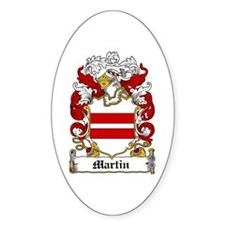Martin Family Crest Oval Decal