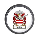 Martin Family Crest Wall Clock