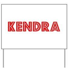Retro Kendra (Red) Yard Sign