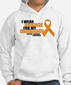 Leukemia: Orange For Granddaughter Hoodie