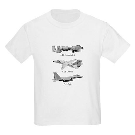 Fighter Jets Kids Light T-Shirt