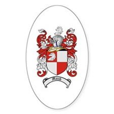 Marsh Family Crest Oval Decal