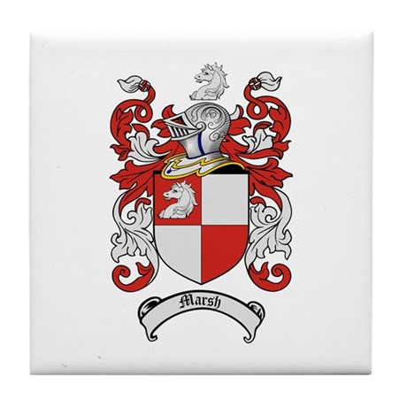Marsh Family Crest Tile Coaster