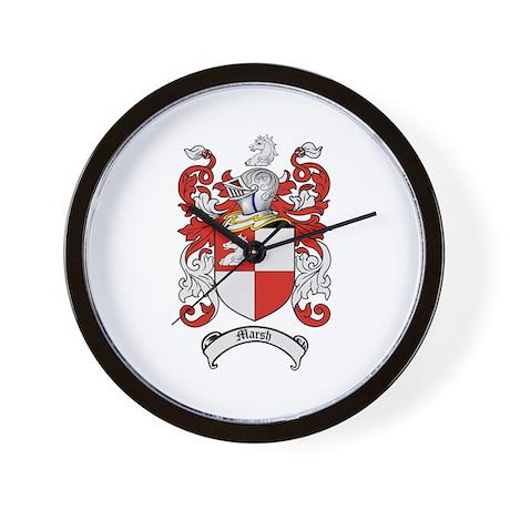 Marsh Family Crest Wall Clock