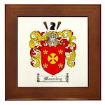 Manning Family Crest Framed Tile