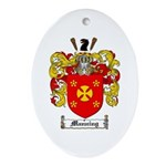 Manning Family Crest Oval Ornament