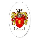 Manning Family Crest Oval Sticker
