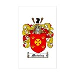 Manning Family Crest Rectangle Sticker