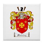 Manning Family Crest Tile Coaster
