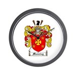 Manning Family Crest Wall Clock
