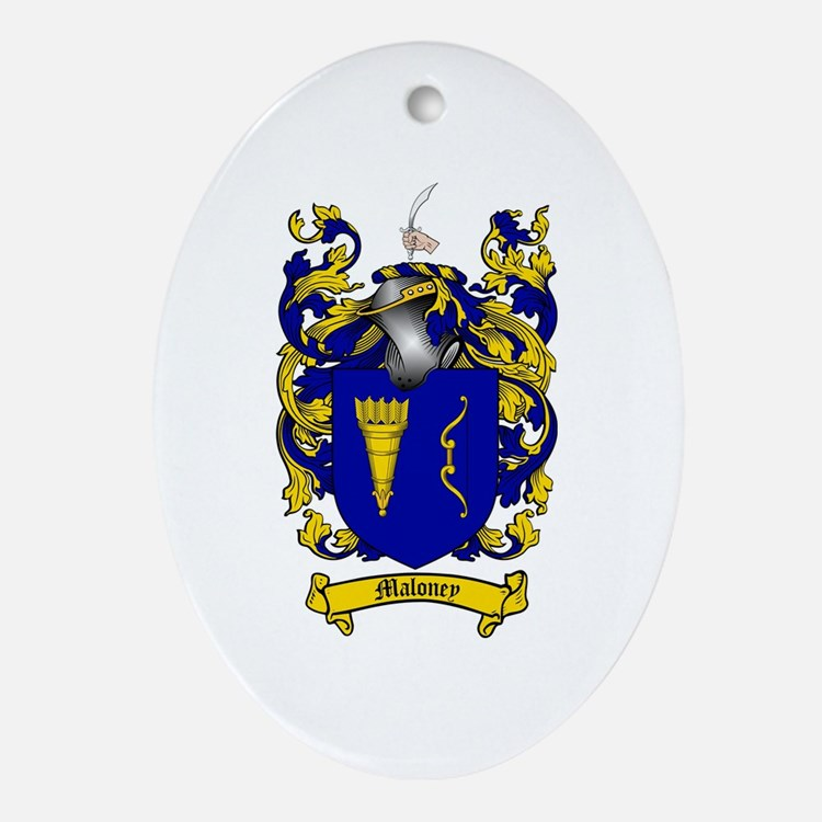 Maloney Family Crest Oval Ornament