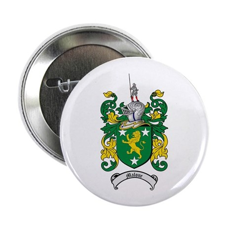 """Malone Family Crest 2.25"""" Button (100 pack)"""