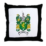 Malone Family Crest Throw Pillow