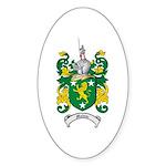 Malone Family Crest Oval Sticker