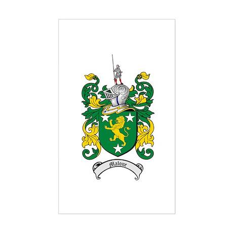 Malone Family Crest Rectangle Sticker