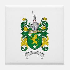 Malone Family Crest Tile Coaster
