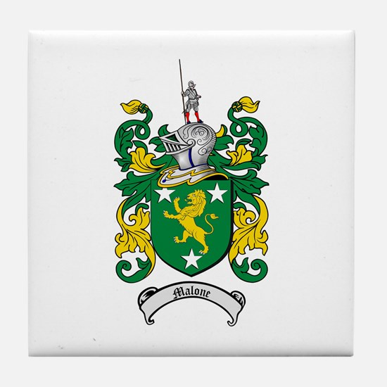 Malone Family Crest Tile Coaster