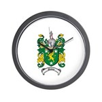 Malone Family Crest Wall Clock