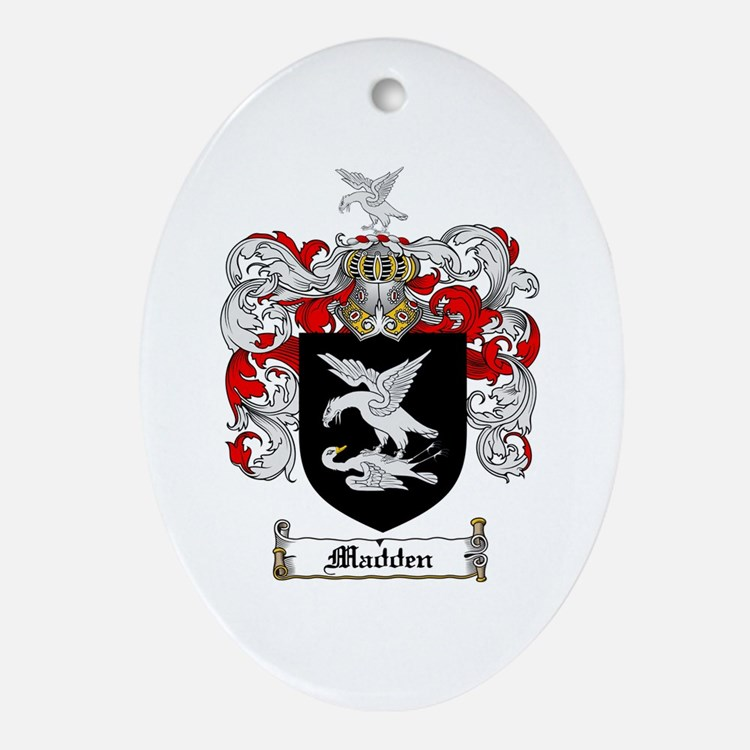 Madden Family Crest Oval Ornament