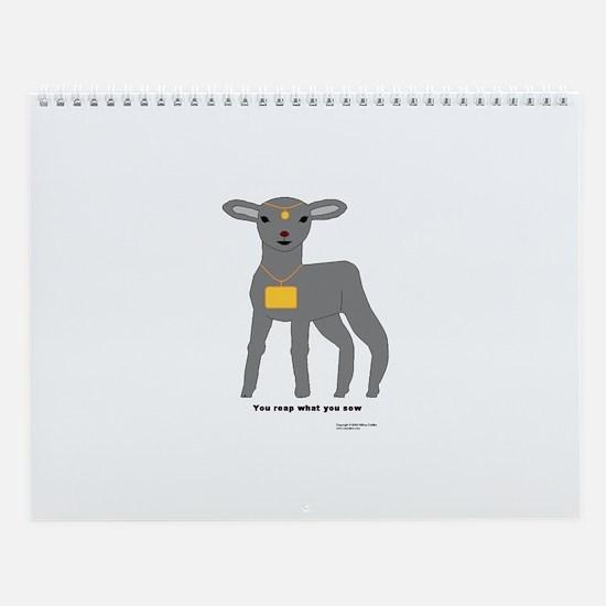 Gray Lamb Wall Calendar