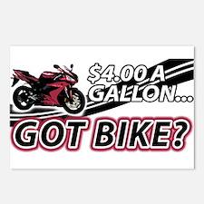 $4 A Gallon - Got Bike? Postcards (Package of 8)